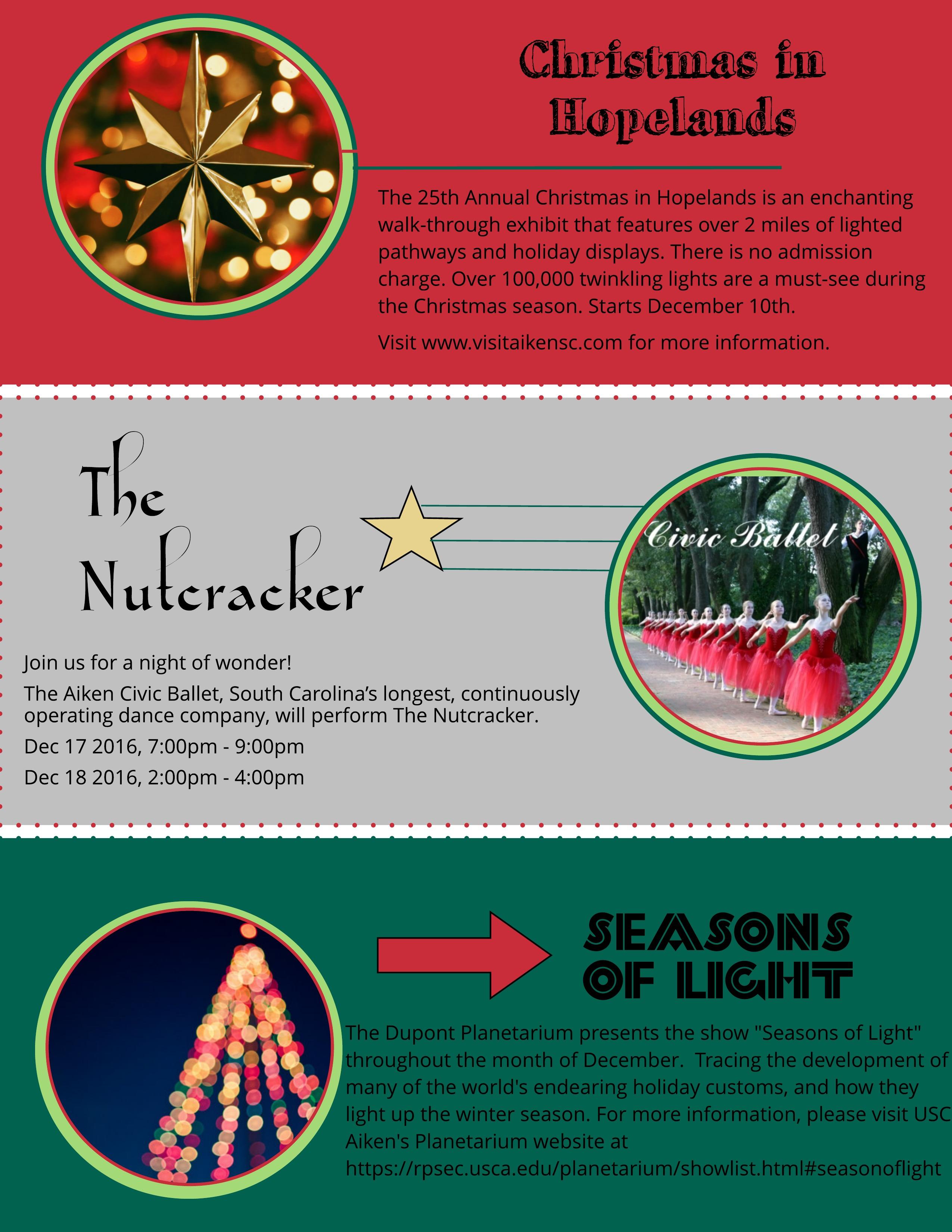 Nine Ways to Enjoy Christmas in Aiken