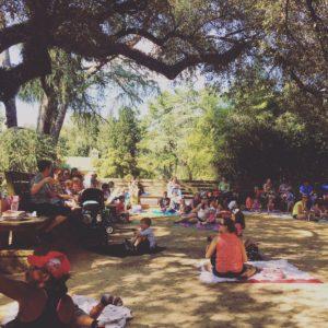 Story Time in Hopelands Gardens, Aiken, SC